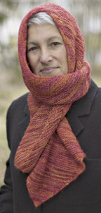 Easy Free Knitting Pattern: Women's Knitted Scarf Pattern
