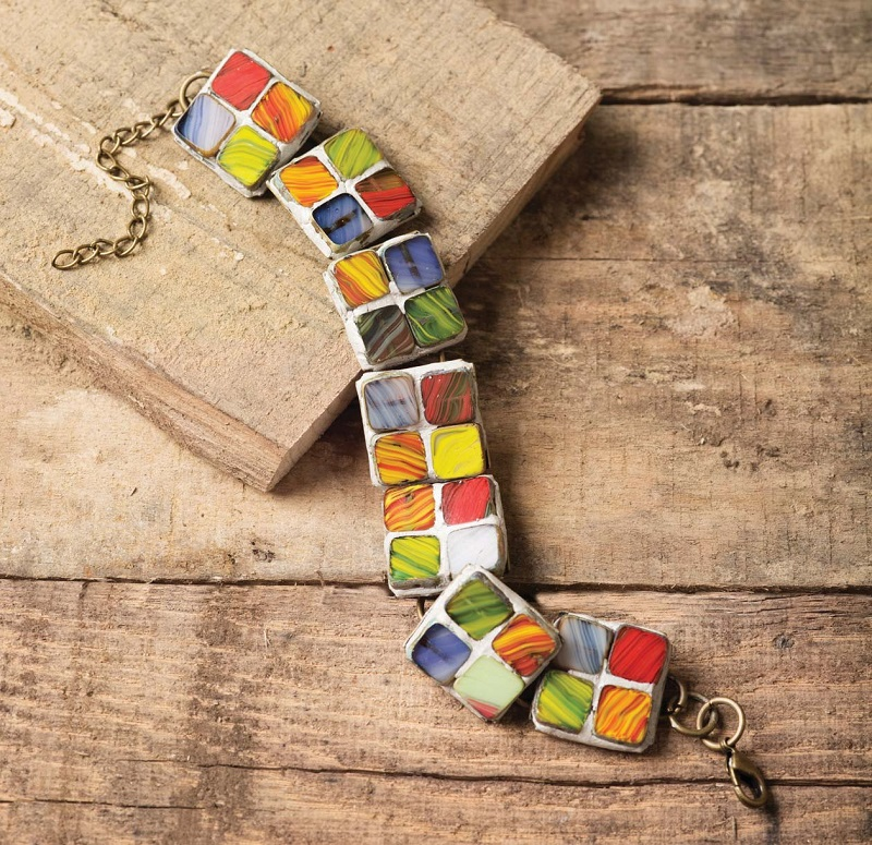 exotic jewelry designs: Gaudi Tile Bracelet by Anne Potter