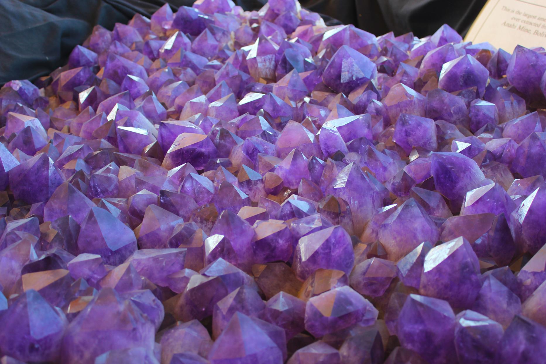 amethyst crystals, Photo courtesy Visit Tucson.
