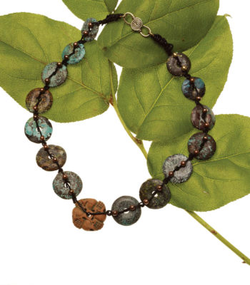 The Stone Temple Donuts Necklace is a beautiful necklace made from stone donuts and can be found in our free Gemstone Jewelry Projects eBook.