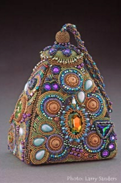 Geneis New Hangout, bead embroidered purse, as seen on Sherry's website