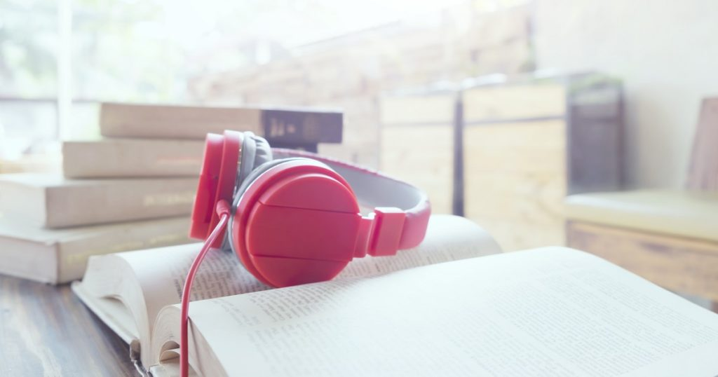 audiobooks headphones book