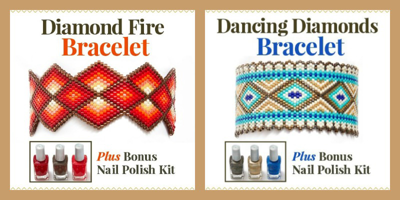Dancing Diamonds and Diamond Fire beading project kits perfect for gift giving