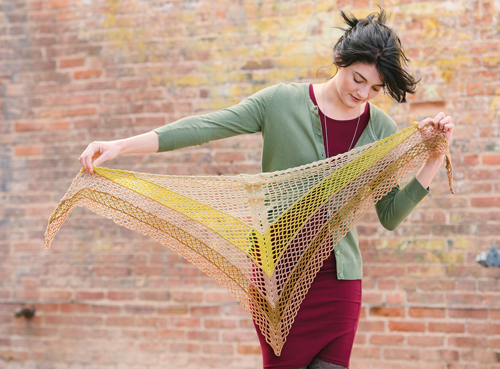 Gingko Shawl Crochet Pattern
