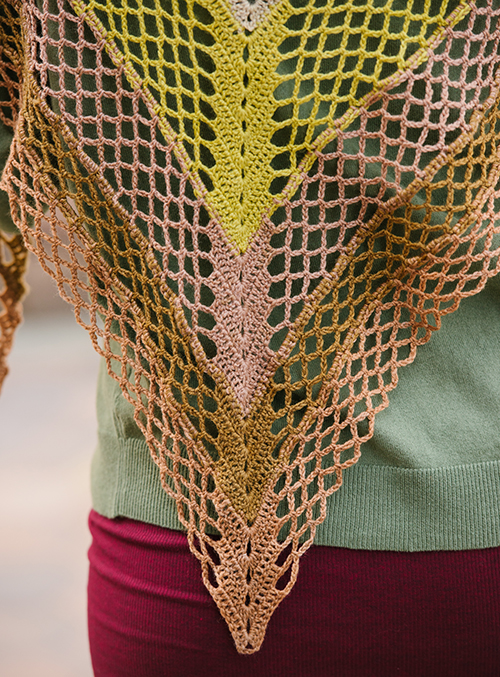 Point of Gingko Crochet Shawl