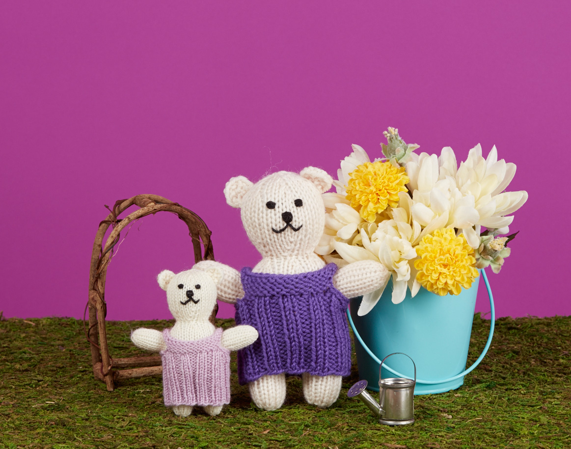 Bear Pair knitting pattern from Love of Knitting Toys by Sarah Gomez