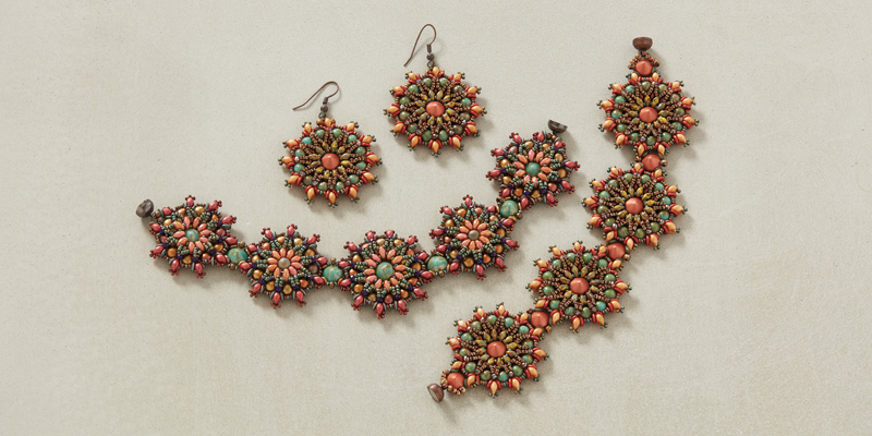 <em>Beadwork</em> Medallion Sizing for Michelle Gowland's Caliente Bracelet Pattern