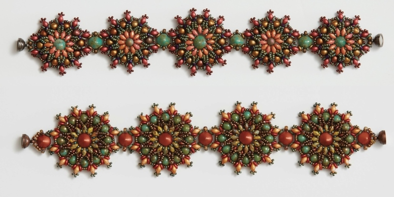 Beadwork Medallion Sizing for Michelle Gowland's Caliente Bracelet Pattern