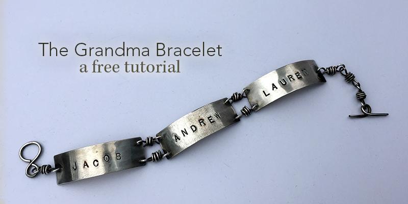 metal stamped jewelry: grandma bracelet free tutorial