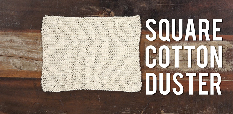Interweave Yarn Hacks: DIY Cotton Duster