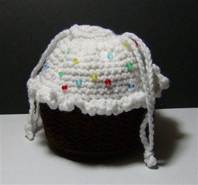 Chocolate Cupcake Purse With Sprinkles Interweave