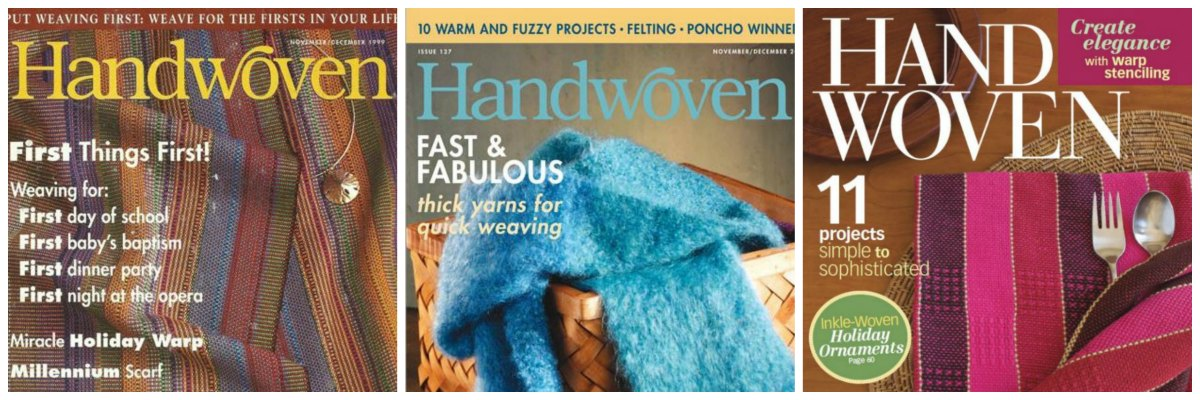 Handwoven Magazine covers