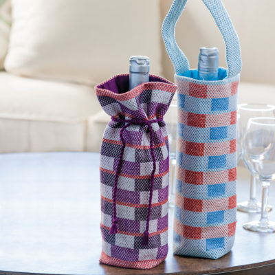 woven wine bags