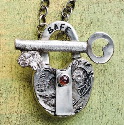 Hadar Jacobson's Lock and Key metal clay clasp