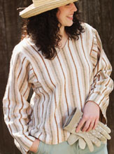 The My Cotton Shirt by Ann Durham is a cotton shirt pattern is handspun on a cotton spindle.