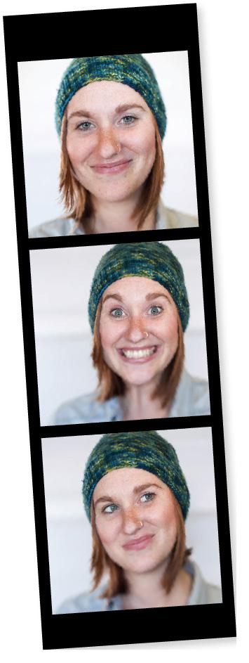Hannah, editor, knitscene handmade