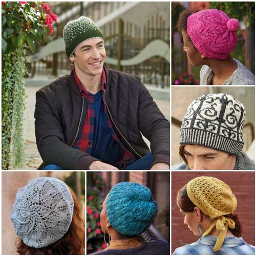 Check out these great knit hats from The Knitted Hat Book!