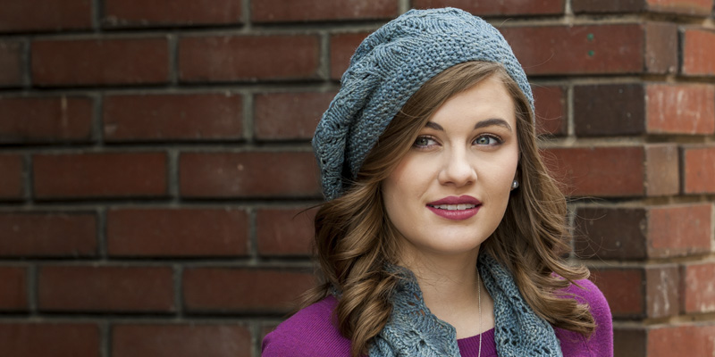 Indulge: Silk Cowl and Beret to Knit