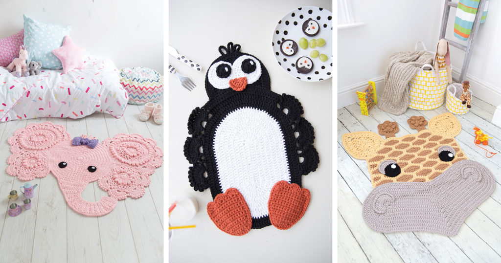 The Perfect Penguin Placemat from <em>Crochet Animal Rugs</em>