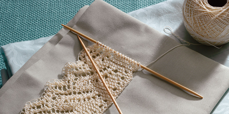 Knit Hilton Lace Edging for Pillowcases
