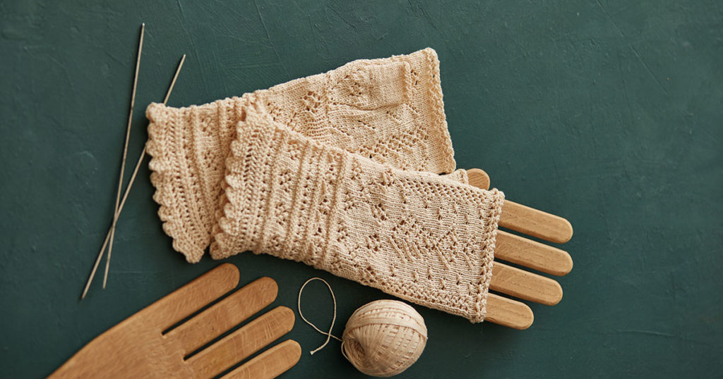 Festival Lace Mitts to Knit