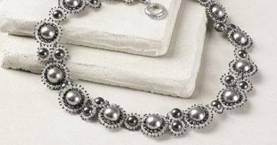 Galactic Pearls necklace by Sue Neel