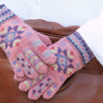 Decorating Knitted Gloves with Roses