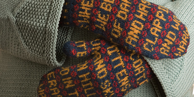 Poetry Mittens to Knit