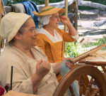 My Life as a Revolutionary War Reenactor Demonstrating How to Spin Yarn