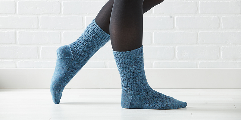A Pair of Timeless Railway-Stitch Socks from <em>Weldon's</em>