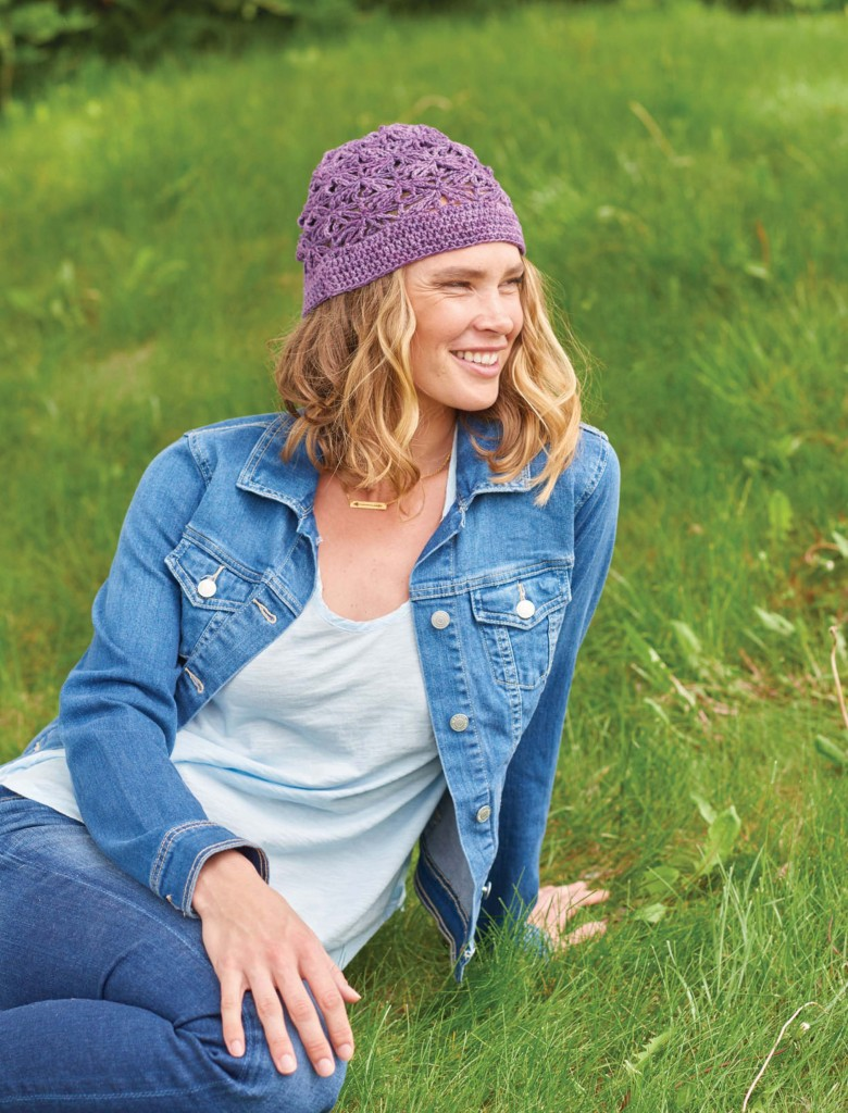 Heather Pluch Chain Flower Crochet Hat, Continuous Crochet by Kristin Omdahl