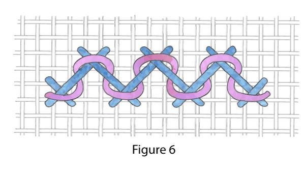 Herringbone stitch Figure 6
