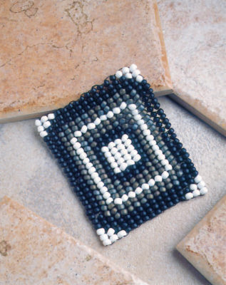 The Herringbone Weave Coaster is a free bead craft project in our free Bead Craft Patterns eBook.