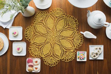 knit doily pattern