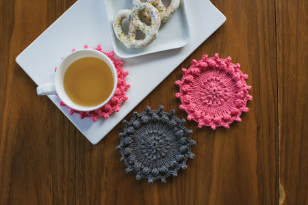 Hobnail Coasters Interweave