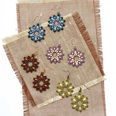 Lilac Burst Earrings by Debora Hodoyer