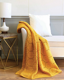 This honeycomb crochet afghan is subtly incredible.