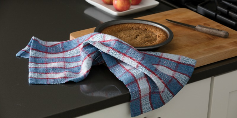 Rigid-Heddle Towels with Halcyon Yarn