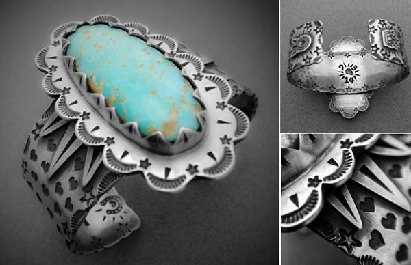 metal stamped cuff bracelet Hoss Rogers