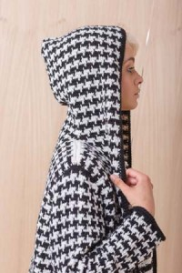 Side View of Houndstooth Coat