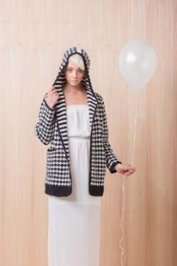 Houndstooth Coat Tunisian Crochet Pattern
