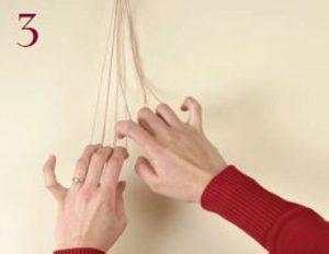 Loop-Manipulated Braids Step 3