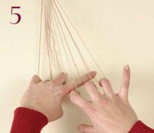 Loop-Manipulated Braids Step 5