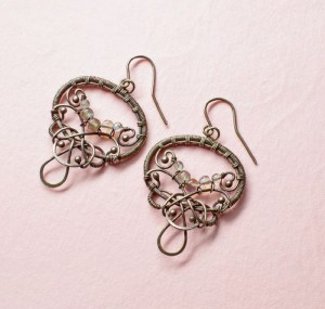 The Style and Grace is a jewelry making earring project found in our free How to Make Earrings at Home eBook.