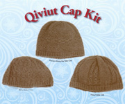 Our Qiviut cap kit comes with three cap patterns, and 2 headband patterns. Bulky spun yarn. www.qiviut.com.