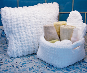 Skacel Collection Fluffy, soft, and ultra-absorbent, HiKoo® Rub-a-dub is a quick-knit microfiber that's perfect for washing, drying, cleaning, and more!