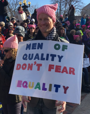 "Many wearing pink ""pussyhats"", approximately 200,000 citizens gathered in Denver, Colorado on January 21, 2017. Photo by Jenn Rein."