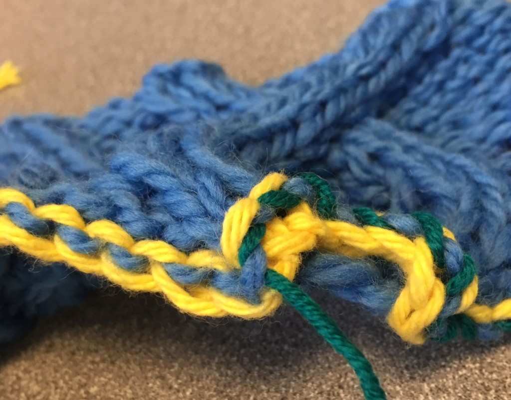 Interweave's Joni Coniglio walks you through grafting a cable cowl pattern with step-by-step images.