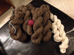By preparing the fibers well and spinning some every day, you can really plow through a lot of fiber!