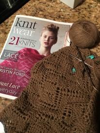 Making progress on the Anna Cowl pattern from knit.wear summer 2016